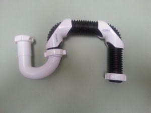 035.Flex S-trap P trap plastic 1-1/4kit, 1-1/2 plastic drain
