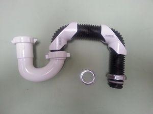 037.Universal Flex S trap P-trap plastic, brass drain